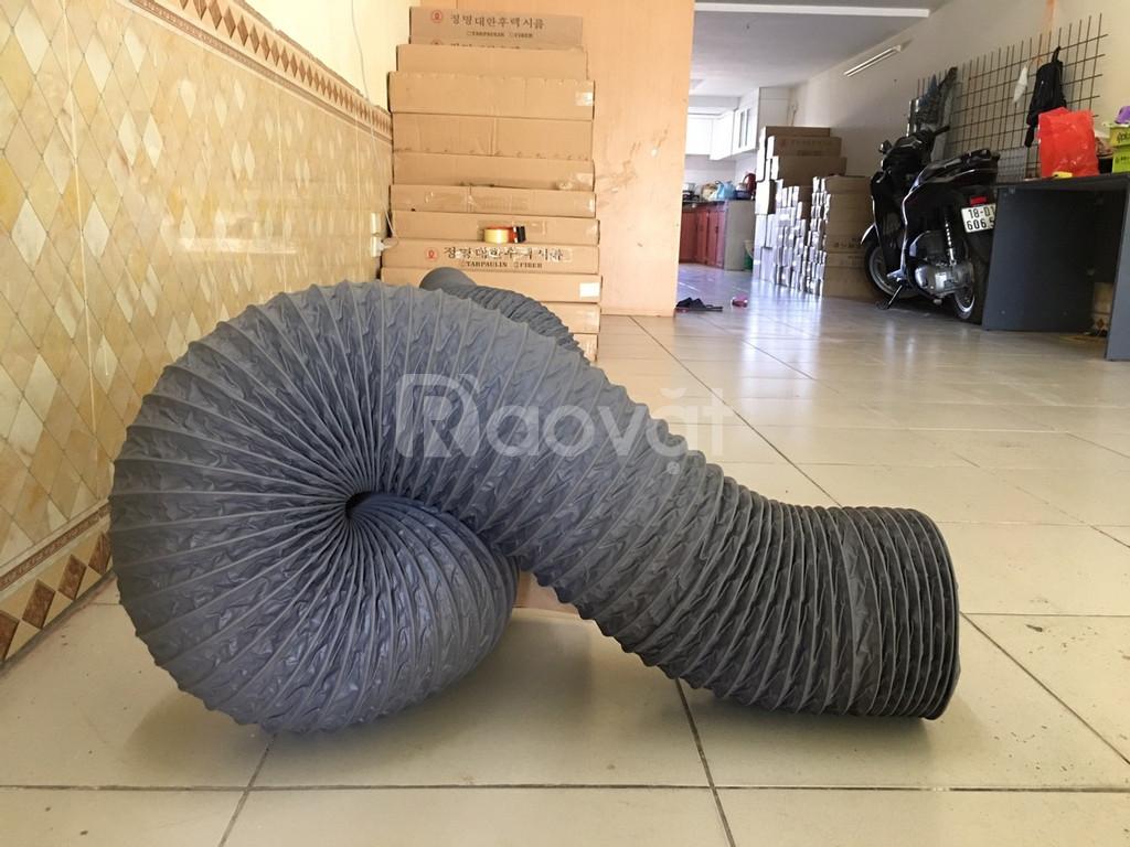 Ống gió mềm vải, ống gió vải, ống vải Tarpaulin, Fiber D200 thông gió. (ảnh 8)