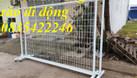 Hàng rào di động inox304, hàng rào mạ kẽm hàng có sẵn (ảnh 4)
