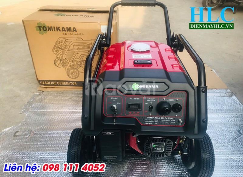 Máy phát điện 3kw chạy xăng giá rẻ Tomikama 4800 đề nổ và giật nổ