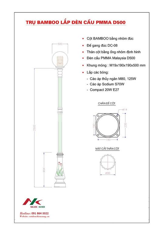 Cột đèn sân vườn Bamboo  (ảnh 4)
