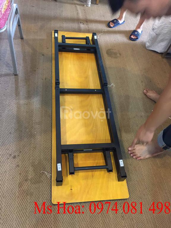 Bàn tròn chân gấp, bàn IBM, bàn vuông gấp chân (ảnh 6)