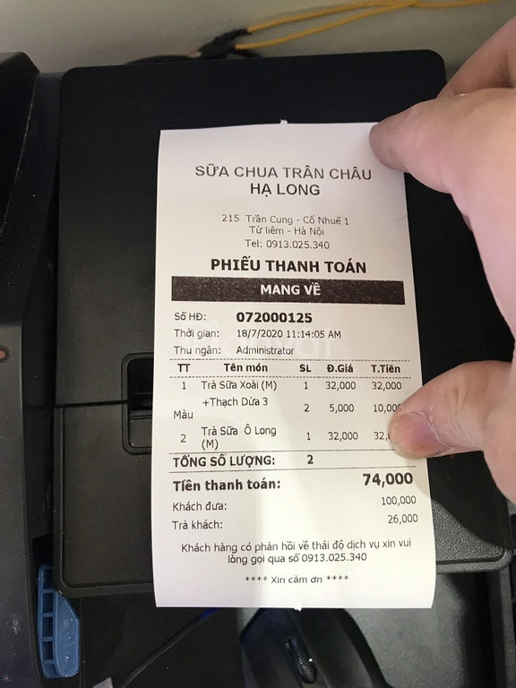 Chuyên máy tính tiền tại Phan Thiết cho Sữa Chua Trân Châu giá rẻ (ảnh 6)