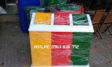 Thùng rác 3 ngăn - thùng rác composite