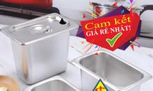 Khay inox bán trà sữa tự chọn, khay inox GN 1/6 bán trà sữa giá rẻ