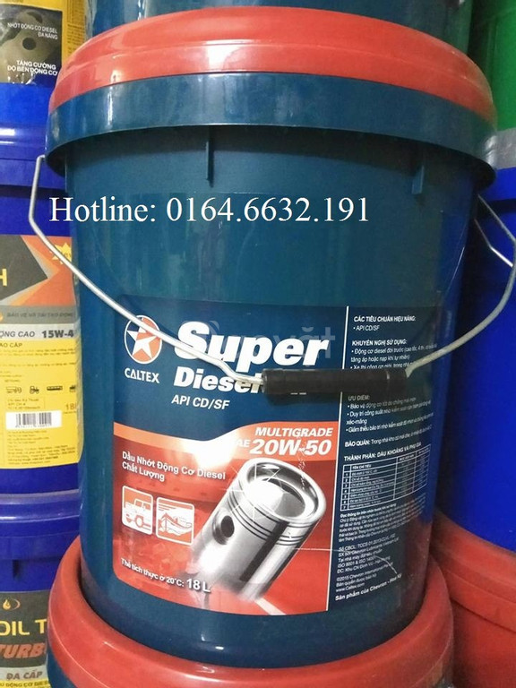 Dầu nhớt Oto Caltex Super Diesel Oil 20W50 xô 18L