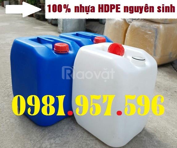 Can nhựa hóa chất 30L, can nhựa dày 30L, can nhựa HDPE