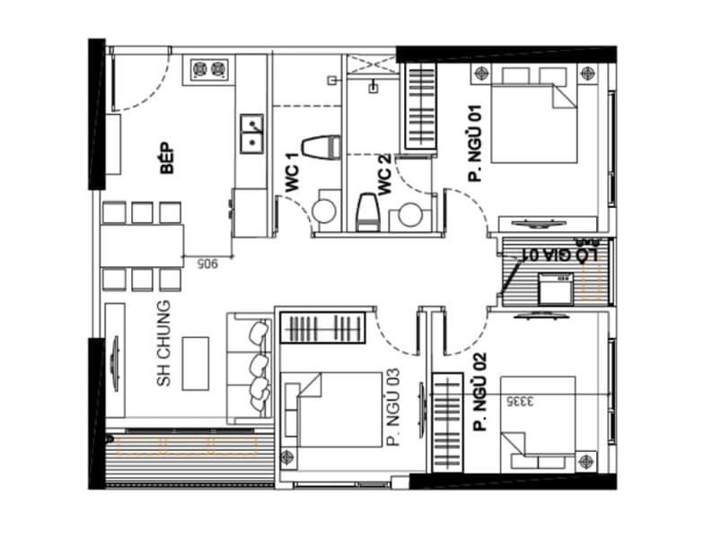 Bán căn hộ chung cư cao cấp Vinhomes-Smartcity (ảnh 1)
