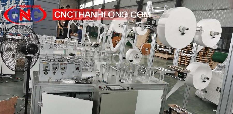 Dây chuyền sản xuất khẩu trang ý tế hiện đại tự động hóa 100% (ảnh 1)