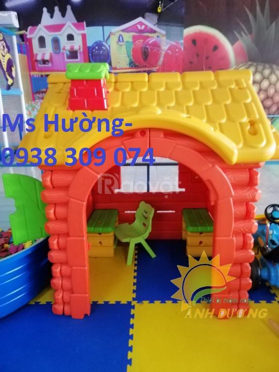 Nhà chơi cổ tích trẻ em cho trường mầm non, khu vui chơi, công viên