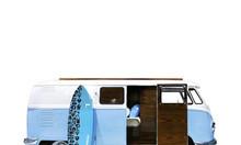 Xe bus mini composite làm phòng ngủ cho bé