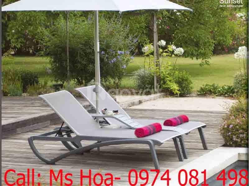 Ghế bãi biển, ghế bể bơi bảo hành 3 năm hàng nhập Pháp