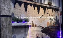 Đá răng lược trắng trang trí tiểu cảnh sân vườn