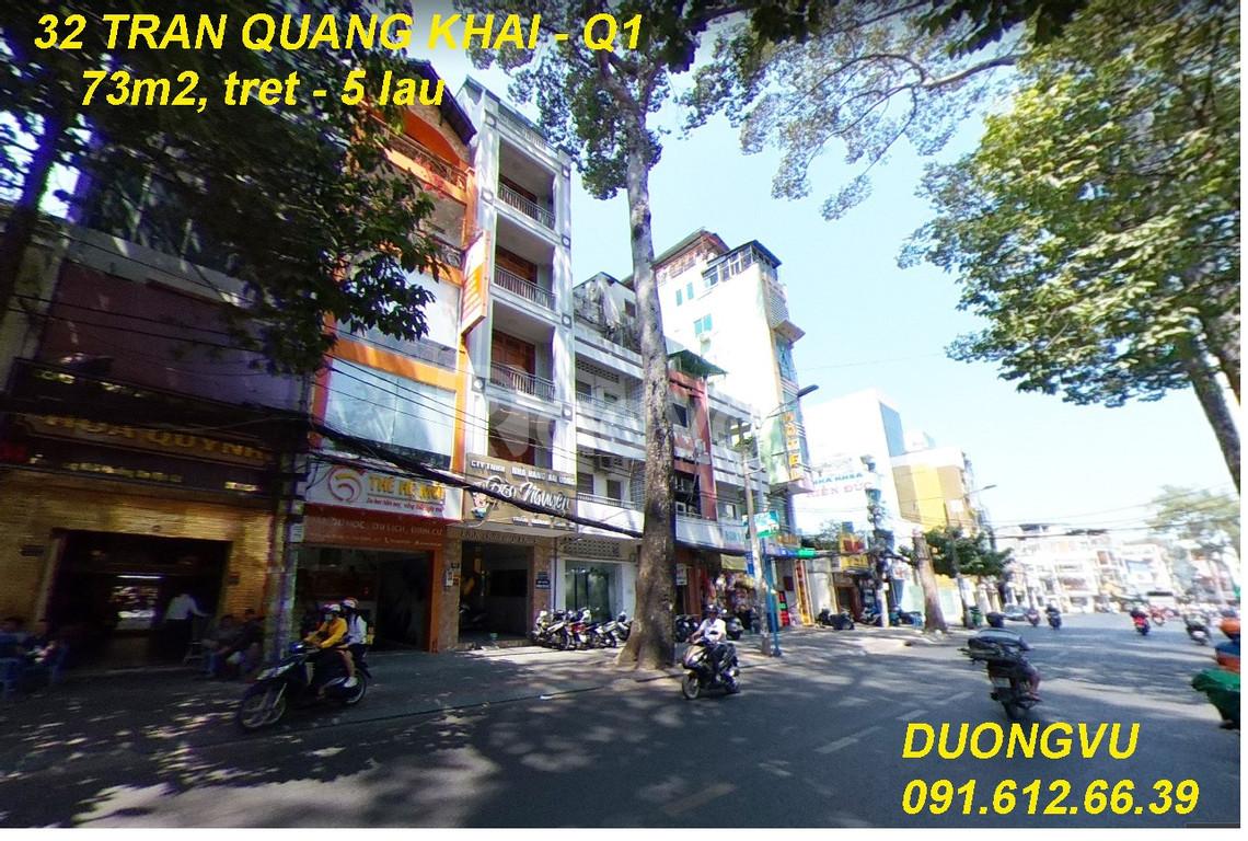 Bán nhà mặt tiền 32 Trần Quang Khải, Quận 1 HCM, khu Vip Tân Định