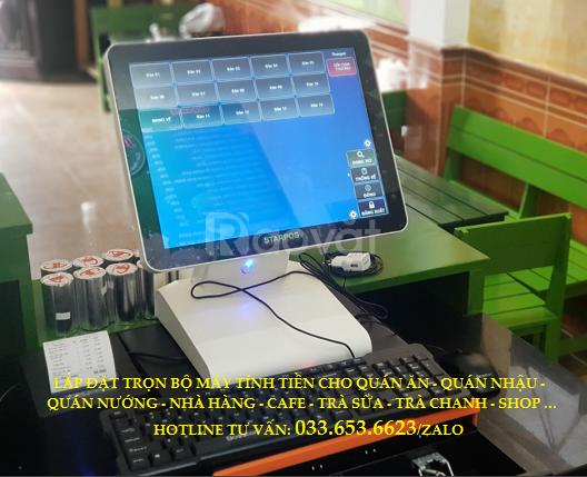 Máy tính tiền cho quán trà sữa tại Long An (ảnh 1)