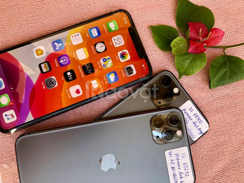 Iphone 11 PROMAX lock 64gb đẹp, nguyên seal màn, sạc ít