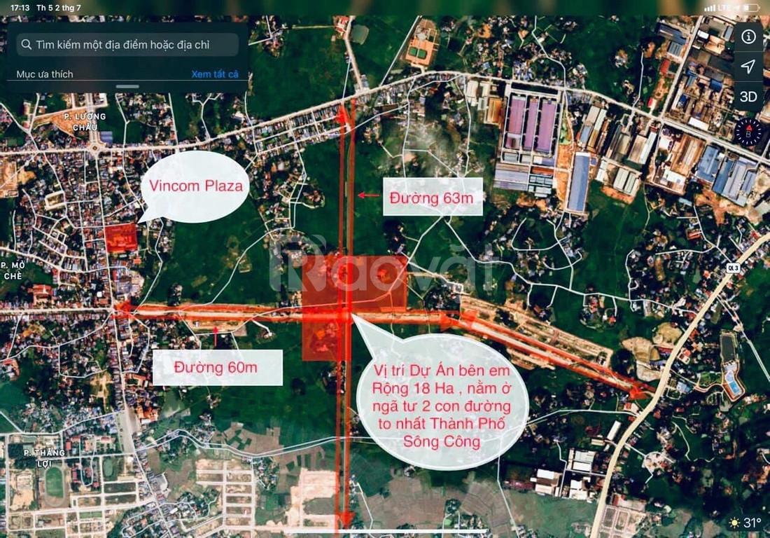 Bán nhanh đất nền giá rẻ 96m2, TP Sông Công Thái Nguyên, lợi nhuận cao