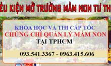 Đào tạo & cấp chứng chỉ Mầm non tại TPHCM