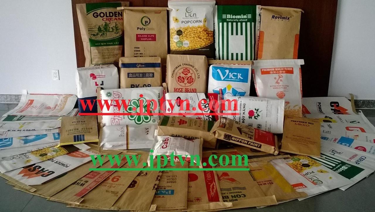 Bao đựng thức ăn chăn nuôi, thực phẩm, thuốc thú y bằng giấy kraft