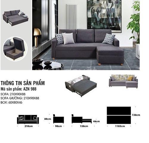 Sofa thông minh ,sofa giường AZN988