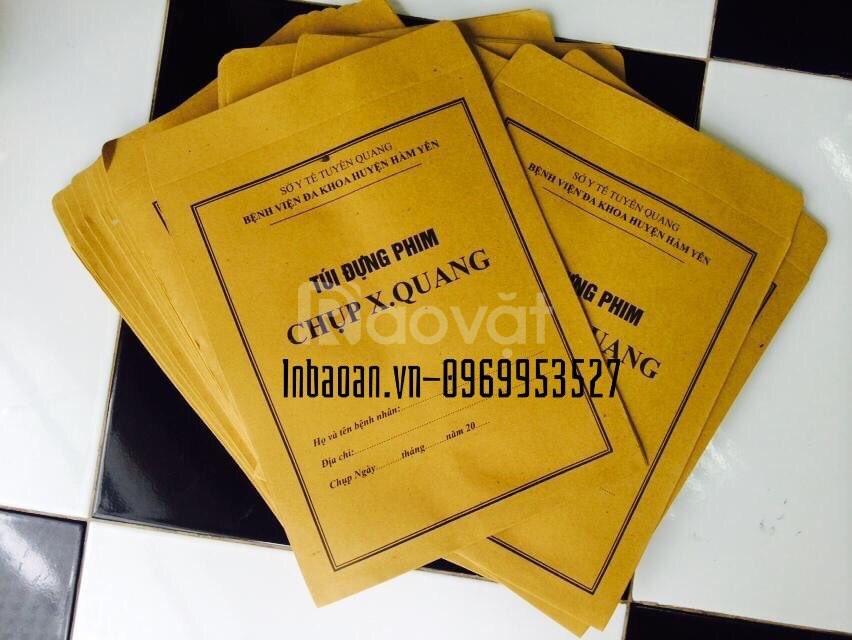 Chuyên in ấn và thiết kế túi đựng phim Xquang, hồ sơ bệnh án.