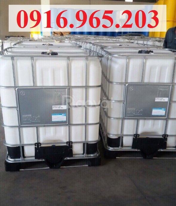 Tank nhựa trắng ibc 1000 lít (ảnh 3)