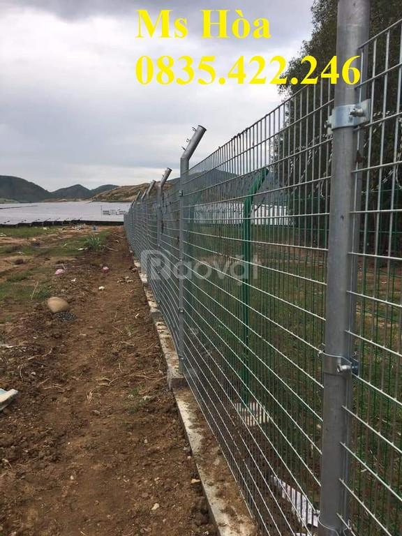 Hàng rào lưới thép mạ kẽm, hàng rào ngăn kho, hàng rào trang trí