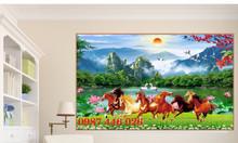 Gạch tranh ngựa, tranh phong thủy, tranh phòng khách HP6153N