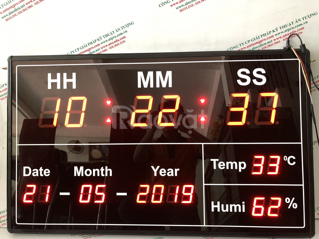 Bảng led đo nhiệt ẩm thiết bị công nghiệp điện tử (ảnh 1)