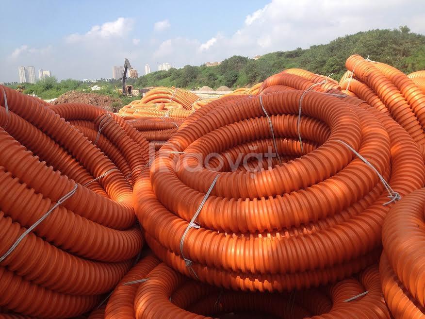 Nơi cung cấp ống nhựa xoắn HDPE, ống luồn dây điện màu cam giá rẻ