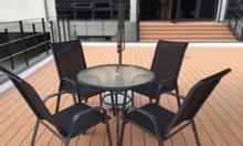 Bộ bàn ghế khung sắt với vải lưới TEXTILENE