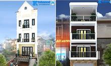 Tặng miễn phí các mẫu thiết kế nhà đẹp mặt tiền 4-5m tại Hà Nội