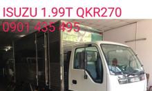 Isuzu 1.990kg, thùng Kín, KM máy lạnh, 50% thuế trước bạ...