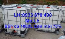 Gía bồn nhựa ibc 1000L mới 100%, thùng nhựa đựng hóa chất 1000L vuông
