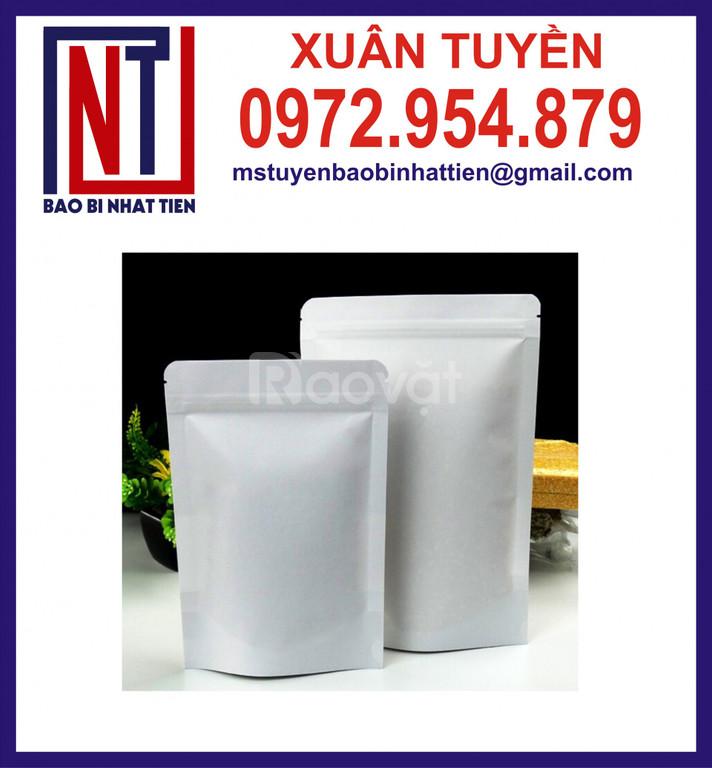 Túi nhôm trắng sữa 3 biên