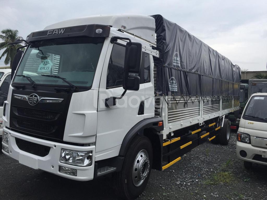 Giá bán xe tải faw 8 tấn thùng dài 8m, tặng 50% phí trước bạ