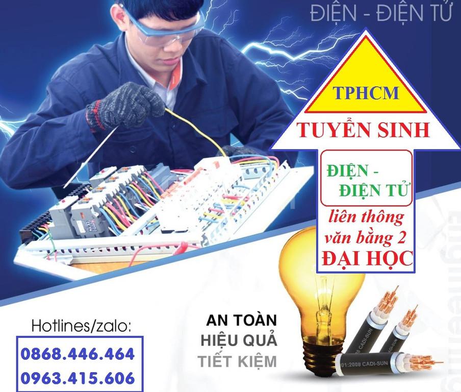 Tuyển sinh liên thông văn bằng 2 Đại học Điện - Điện tử tại TP HCM