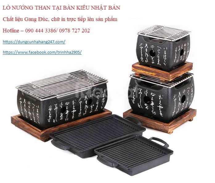 Bếp nướng Nhật Bản, lò nướng Nhật, bếp nướng tại bàn Nhật