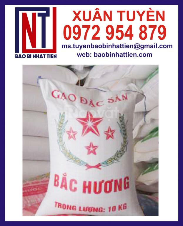 Chuyên in bao bì đựng gạo, bao đựng gạo 10kg giá tốt