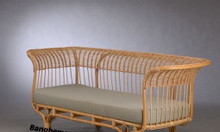 Băng ghế sofa mây tre hiện đại