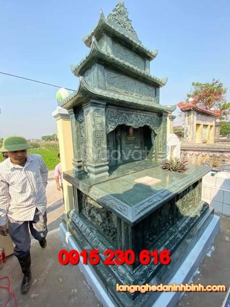 Mẫu mộ đá xanh rêu đẹp (ảnh 3)
