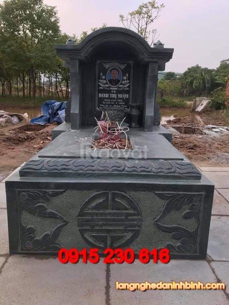 Mẫu mộ đá xanh rêu đẹp (ảnh 4)