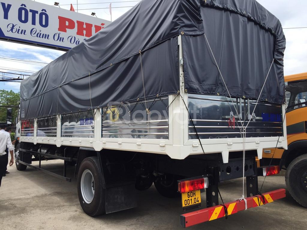 Giá bán xe tải faw 8 tấn thùng dài 8m | xe tải chở nệm, palet.