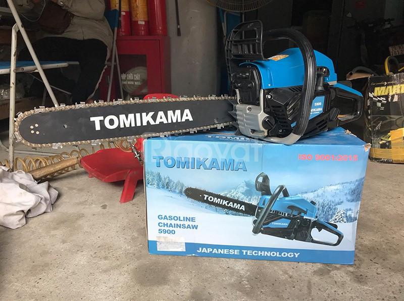 Máy cưa xích chạy xăng mini chính hãng tốt nhất Tomikama 5900
