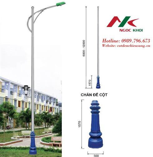 Cột đèn cao áp cần đơn B07 (ảnh 1)
