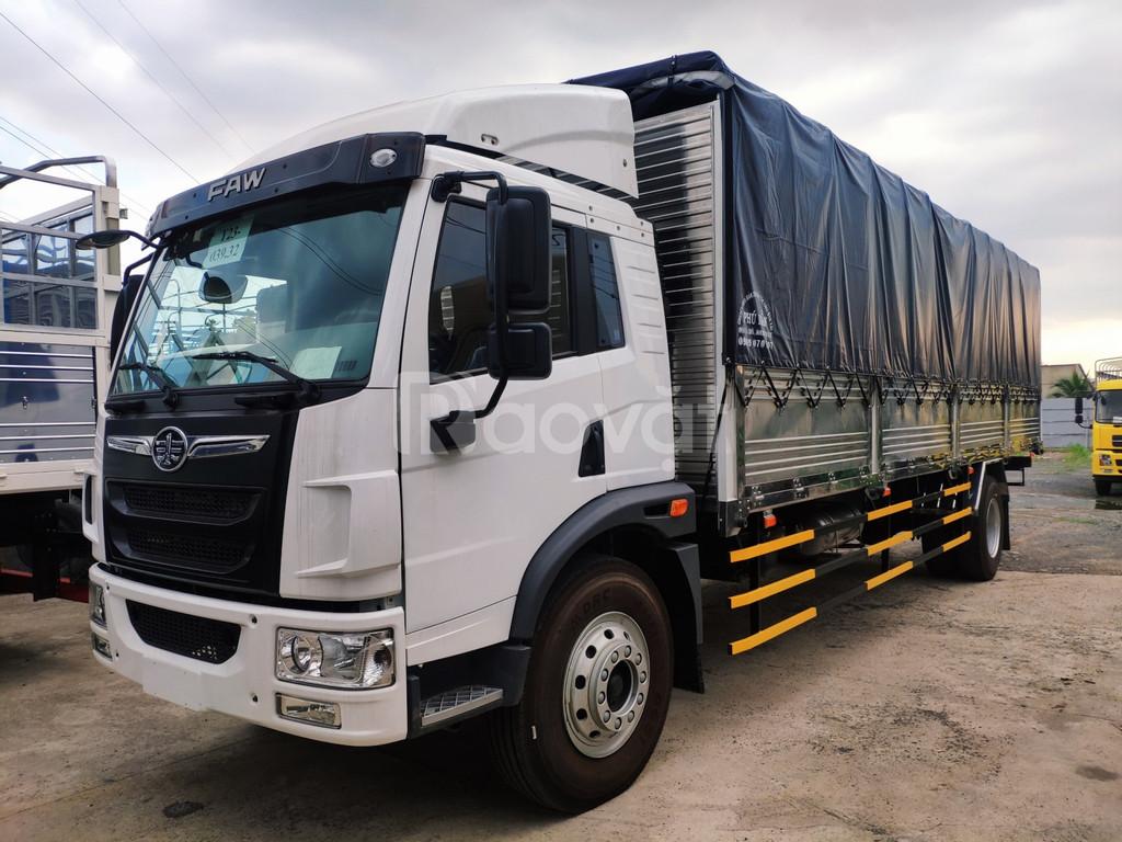 Xe tải faw 9 tấn thùng dài 8m chở hàng nhẹ,mút xốp,giá rẻ Bình Dương