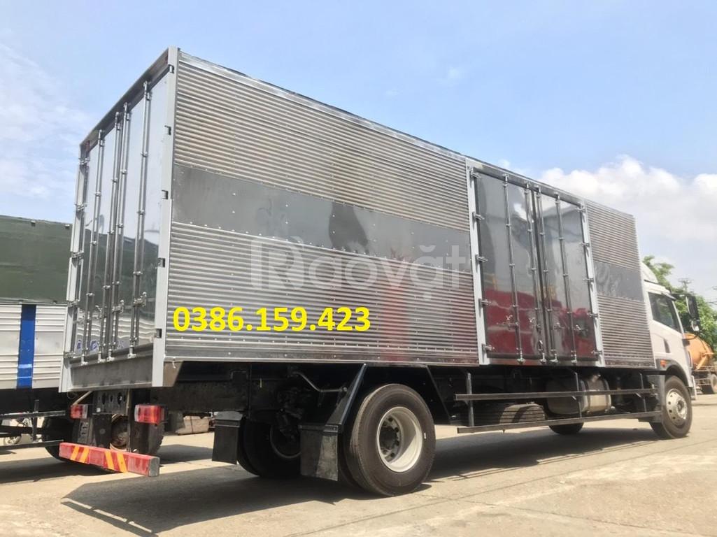 Giá xe tải faw thùng dài 8m, xe tải faw chuyên chở nệm palet.