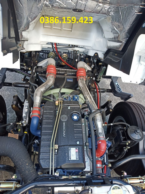 Xe tải vận chuyển hàng hóa palet, nệm - xe tải faw 8 tấn thùng dài 8m. (ảnh 8)