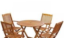 Bộ bàn ghế gỗ ngoài trời cao cấp