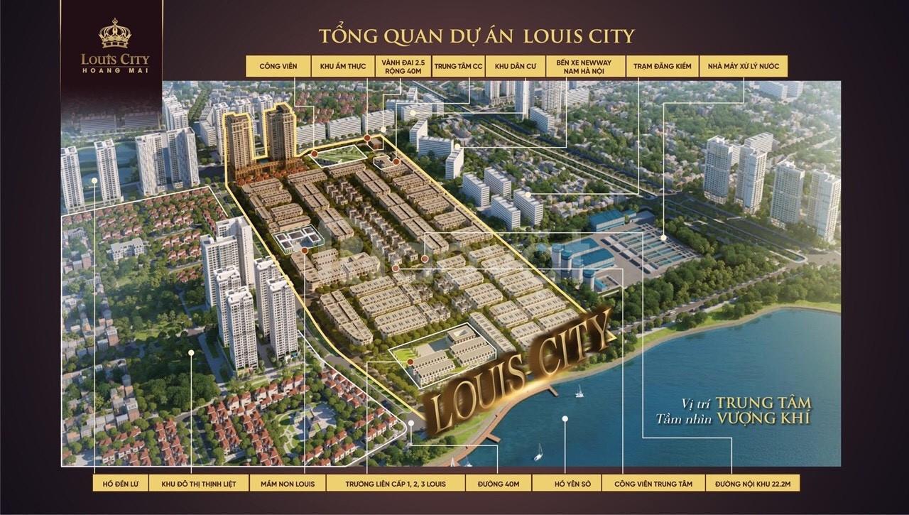 Shophouse biệt thự Louis City Hoàng Mai