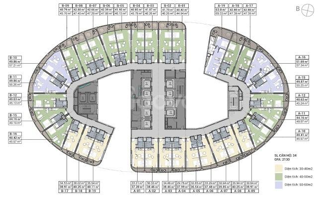 Bán căn hộ 45m2, giá 1,2 tỷ, bao thuế phí sang tên